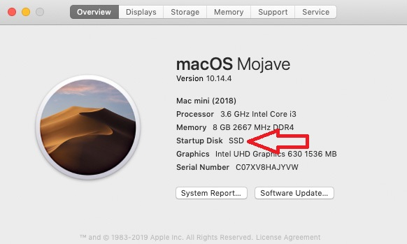 mac mojave installed on external m.2 nvme ssd