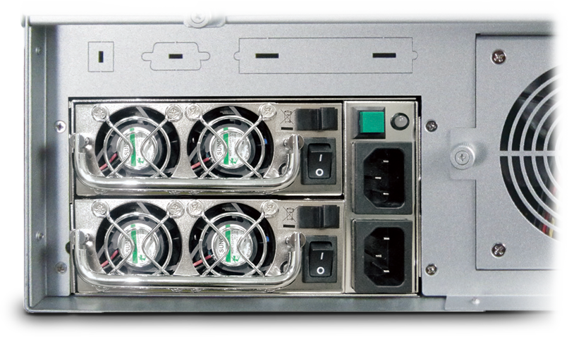 NA333TB3 has the built-in 500W redundant PSU, so that it can work 24/7 with no system downtime.