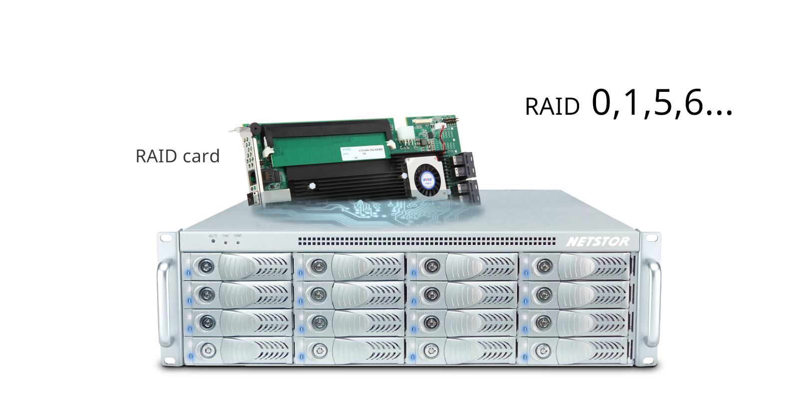 NA333TB3 Thunderbolt RAID storage, Rackmount storage