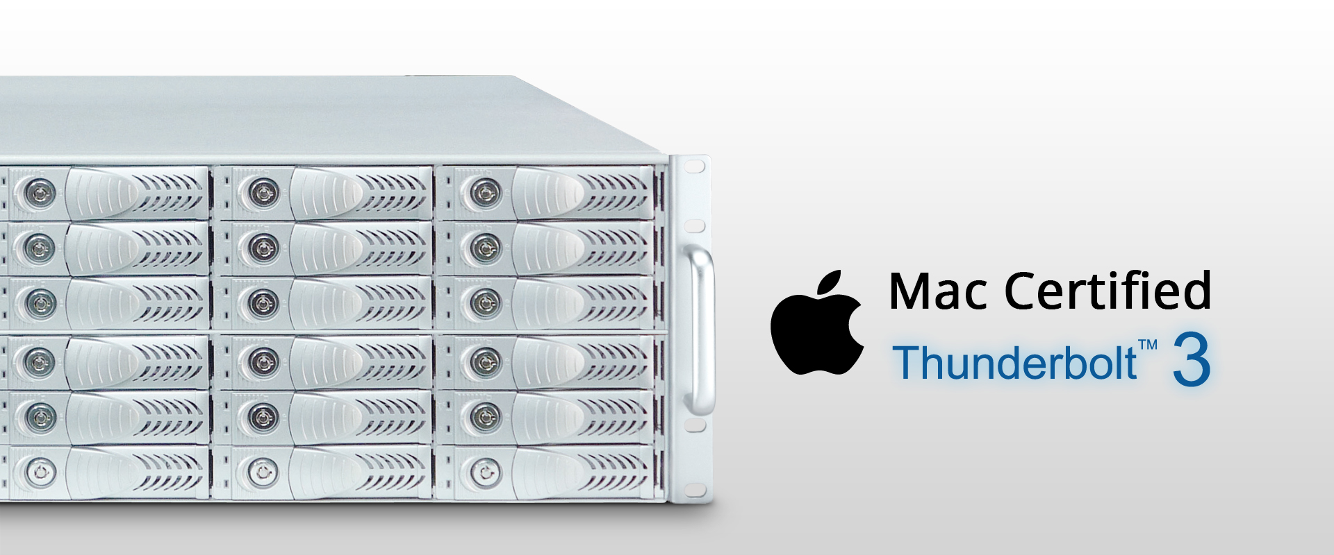 Netstor NA381TB3 has passed Apple's strict certification test process and is Mac certified.