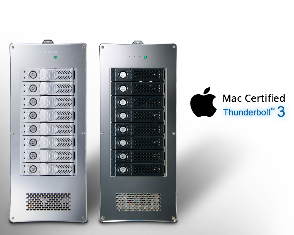 Netstor NA762TB3 - Thunderbolt™ 3 RAID storage has passed Apple Intel  certification.
