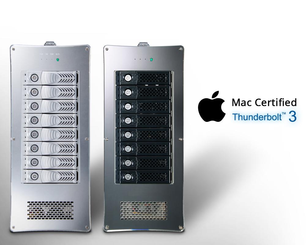Netstor NA762TB3 - Thunderbolt ™ 3 RAID-opslag heeft Apple Intel-certificatie geslaagd.